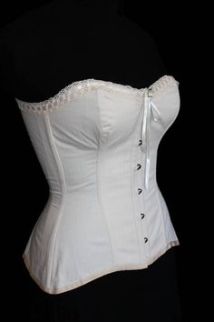 Over bust corset made from one layer of coutil