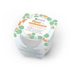 Fleur de naissance Capucine   Nature & Découvertes Facial Tissue, Birth, Personal Care, Ainsi, Mac, Birth Flower, Seed Packets, Natural Birth, Ceramic Jars