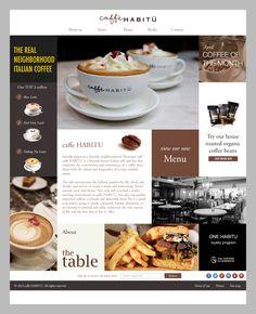 website concept for caffe_habitu #cafe #coffee #hongkong