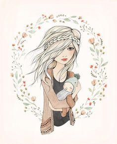 """""""mother's love"""" illustration by Kelli Murray"""