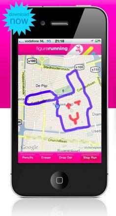 FigureRunning - The art of running. 달리기+그리기. 예전 나이키가 했던 캠페인이었던가... 뜀박질하며 도시에 프렉탈 모양을 그려내는 미션을 수행하는 캠페인... 그와 비슷한 앱. 사용자 커스터마이징과 공유기능이 강화된 것이 특징이구낭!
