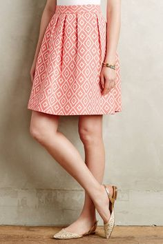 Pleated Ikat Skirt by Hutch #anthrofave #anthropologie