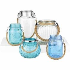 Glass Containers With Rope