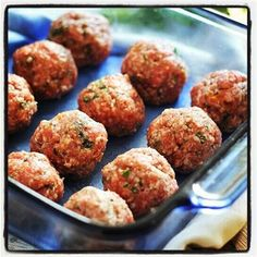 Skinny Eatz - Greek Turkey Meatballs - The Kitchen Table - The Eat-Clean Diet®