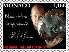Monaco COVID-19 postimerkki