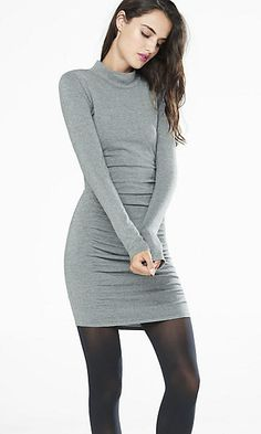 mock neck sweater dress $48.93 Express