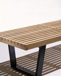 george nelson bench: currently doubling as our coffee table