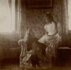 Rare of Grand Duchesses Olga and Maria Nikolaevna of Russia, c. 1905-07.