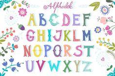Alphabet by marushabelle on Creative Market