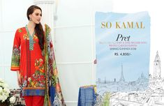 So Kamal Pret 3 PC Printed Summer Collection 2018 With Price