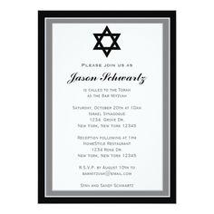 Elegant Bar Mitzvah Invitation - Customized X Invitation Card Bar Mitzvah Invitations, Party Invitations, Invitation Design, Invitation Cards, Torah, Bat Mitzvah, Perfect Party, Rsvp, Announcement