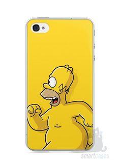 Capa Iphone 4/S Homer Simpson Correndo Pelado - SmartCases - Acessórios para celulares e tablets :)