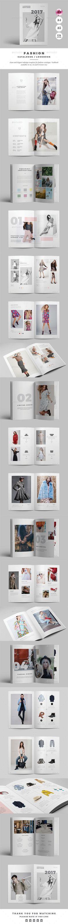Fashion Catalogue / Lookbook - Catalogs #Brochures Download here:  https://graphicriver.net/item/fashion-catalogue-lookbook/19585474?ref=alena994