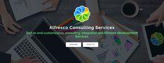 Design of Alfresco Consulting Services. Ui Ux Design, Page Design, Graphic Design, Enterprise Content Management