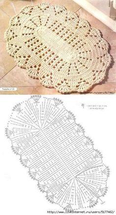 Crochet rug crochet carpet doily lace rug by eMDesignBoutique Filet Crochet, Crochet Doily Rug, Crochet Carpet, Crochet Motifs, Crochet Tablecloth, Crochet Home, Diy Crochet, Crochet Shrugs, Crochet Ideas