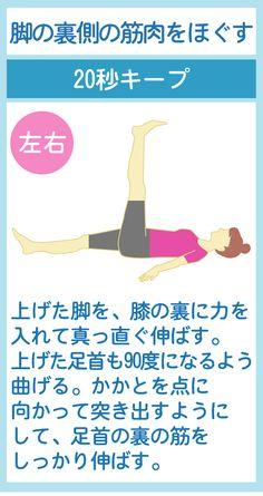脚の裏側の筋肉をほぐす Health Diet, Health Care, Health Fitness, Health And Beauty Tips, Yoga Fitness, Body Care, Massage, Beauty Hacks, Wisdom