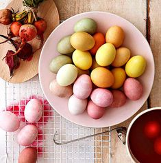 Easter Eggs in Beautifully Subdued Shades
