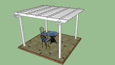 This step by step diy woodworking project is about pergola plans. I have designed this large square pergola so you can create some shade in your backyard efficiently. This pergola is sturdy, features an elegant design and it is easy to build. Pergola Diy, Pergola Decorations, Building A Pergola, Small Pergola, Modern Pergola, Pergola Attached To House, Metal Pergola, Pergola With Roof, Covered Pergola