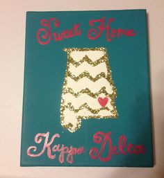 Sweet home Kappa Delta Canvas by GreekisChicBoutique on Etsy, $22.00