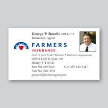 Spine business card business cards pinterest business cards farmers insurance business card design reheart Images