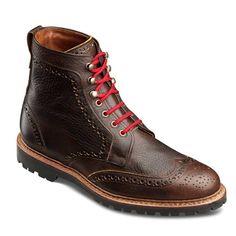 Long Branch - Wingtip Lace-up Oxford Men's Dress Boots by Allen Edmonds, $350. If I were a (rich) boy...