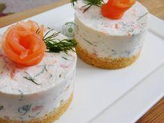 Cheesecake salé: Saumon fumé / aneth