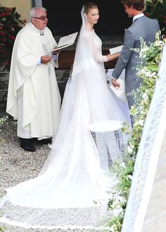 The royal wedding of Pierre Casiraghi, grandson of Grace Kelly and Prince Rainier, to Beatrice Borromeo. July 2015.