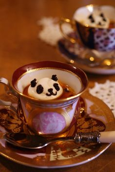 Panda Tea/coffee せれぶもどきな午後 パンダプリン