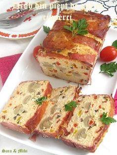 Drob-din-piept-de-pui-cu-ciuperci-2 Jacque Pepin, Kebab, Romanian Food, Lasagna, Quiche, Food To Make, Sandwiches, Deserts, Good Food