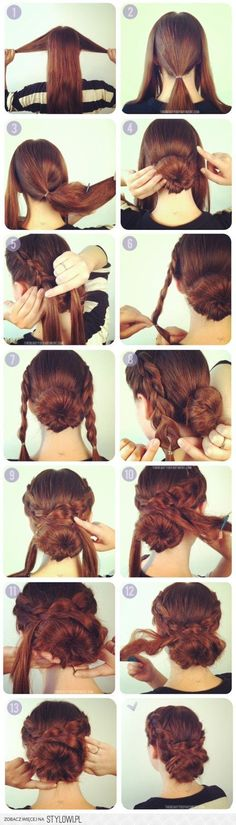 Braided Bun Easy Hair Tutorial -Step By Step Hair Tutorial