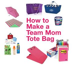 Everything but the kitchen sink!not really but definitely my go-to list of what you need to have on hand ~ How to Make a Team Mom Tote Bag {Team Mom Tips} organized soccer mom soccer mom organization Basketball Mom, Football Cheer, Softball Mom, Soccer Moms, Softball Crafts, Softball Pitching, Softball Shirts, Basketball Drills, Fastpitch Softball