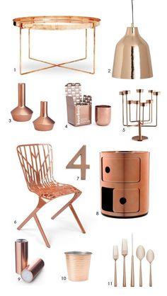 Color Forecast: Cool Copper Accessories - Love Copper and have been incorporating it in our things for a while now :-)
