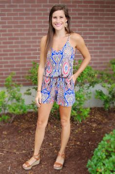 At A Crossroads Romper | Teal, A Swanky Boutique