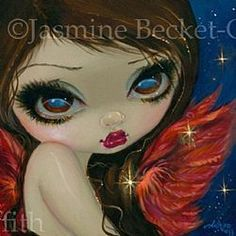 Art: Faces of Faery 210 - original painting by Artist Jasmine Ann Becket-Griffith
