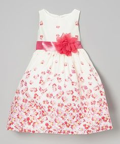 Fuchsia Floral Sash Dress - Toddler & Girls #zulily #zulilyfinds