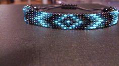 Handgeweven kralenarmbandje/Loom beaded bracelet door Suusjabeads, €12.50