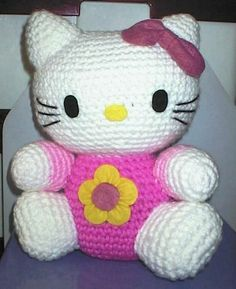 No pattern, just inspiration. Hello Kitty.