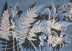 A beautiful unique hand made original ooak botanical monoprint made with love and care directly using plants from Yorkshire in the printing Nature Prints, Japanese Art, Leaf Art, Botanical Prints, Flower Art, Floral Art, Art, Monoprint, Decorative Prints