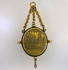 Early Sixteenth Century Reliquary Pendant.  Rare silver gilt reliquary pendant, engraved on both sides. Ca 1500, probably South German. For sale at www.no1mayfair.com