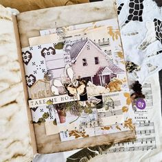 Project from Brand Ambassador Ksenia. You can find her at @vesnina_ksenya_/ Click to check out our products #primamarketinginc #createwithprima #PrimaMarketing #Prima #PrimaFlowers #scrapbook #mixedmedia #art #embellishment #flowers #Finnabair #Finnabairmixedmedia Finnabair Mixed Media, Prima Marketing, Paper Houses, A4 Paper, Take Me Home, Scrapbook Paper, Scrapbooking, Moon Child, Embellishments