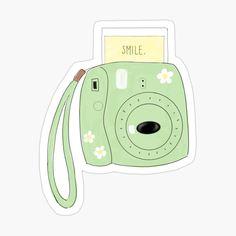 Aesthetic polaroid camera Stickers Kawaii, Preppy Stickers, Cute Laptop Stickers, Cool Stickers, Printable Stickers, Journal Stickers, Scrapbook Stickers, Homemade Stickers, Tumblr Stickers