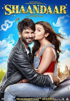 Shaandaar Bollywood Movie 2015 of First Official Poster Look of Shahid Kapoor and Alia Bhatt Out. See the Poster Look , Wiki, Cast and Other details.