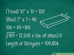 3 Ways to Build Deck Stairs - wikiHow Building Code, Building A Deck, Building Plans, Treads And Risers, Stair Risers, Stairs Measurements, Stairs Stringer, Brick Pathway, Concrete Pad