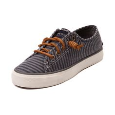 Earn your stylish stripes with the Seacoast Casual Shoe from Sperry Top-Sider! Stroll into your weekend with the Seacoast Casual Shoe featuring a super soft striped canvas upper with durable rawhide leather laces.   <br><br><u>Features include</u>:<br> > Breathable canvas upper<br> > Lace-to-toe closure with signature rawhide leather laces<br> > Removable molded footbed for increased comfort and arch support<br> > Vulcanized construction with non-marking rubber outsole for flexible traction…