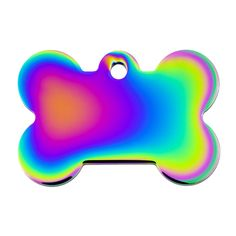 Quick-Tag Rainbow Bone Personalized Engraved Pet ID Tag at PETCO
