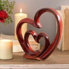 I just bought this yesterday! - Red Ceramic Heart Statue | Kirklands