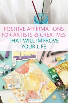 Are you an artist or creative? Have you struggled to stay positive and focused? Try this positive affirmations for artists. Affirmations For Women, Daily Positive Affirmations, Positive Quotes, Acrylic Painting Tips, Mind Body Spirit, Nature Quotes, Learn To Paint, Love Words, Art Therapy