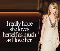 I really hope she does! I'd feel depressed if she didn't.