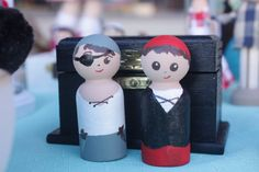 Mini Pirate Doll Playset. Pirate Peg Doll. Clothespin doll by Min and Moots