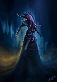 """An Illithid. Also known as a """"mindflayer"""", these psionic aberrations came from beyond the stars to eat your brains. They're also capable of turning party members against each other with their mind control powers. Loosely based around HP Lovecraft's Cthulu mythos."""